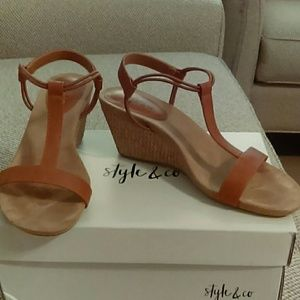Upper Leather Wedge Sandals